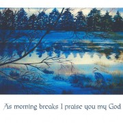 Morning Breakes 7x5 Note Card
