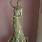 Clay Advent Woman Sculpture