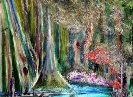 Cypress Swamp Painting